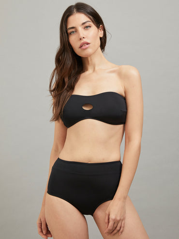 POLMINIA TOP BATHING SUIT BLACK