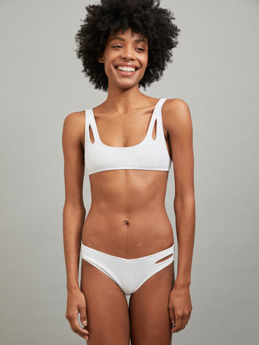 MELPOMENE TOP BATHING SUIT WHITE