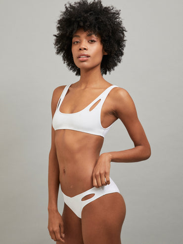 MELPOMENE BOTTOM BATHING SUIT WHITE