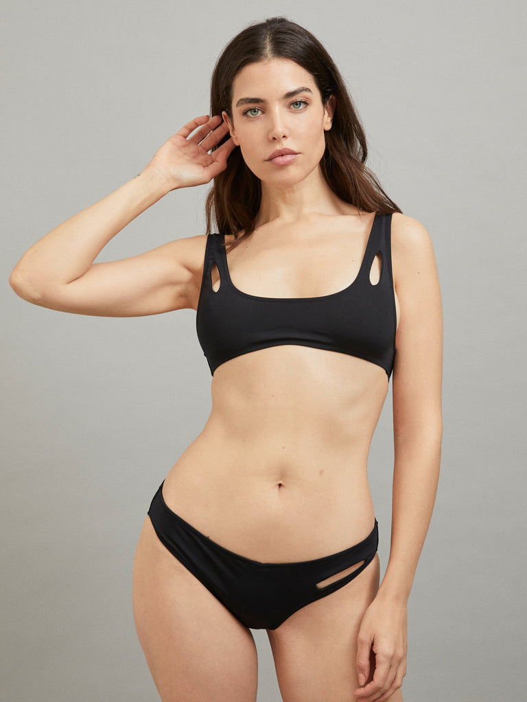 MELPOMENE TOP BATHING SUIT BLACK