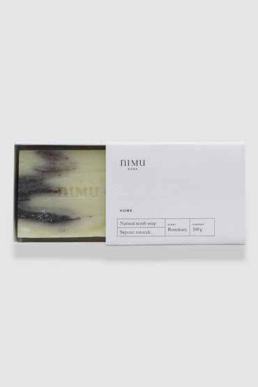 Nimu | Soap bar Rosemary and Clay (Scrub) 100g