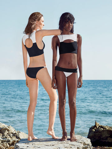 HEPWORTH Top Bathing Suit Black