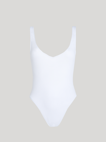 ISOMETRIC Swimsuit White - allSisters