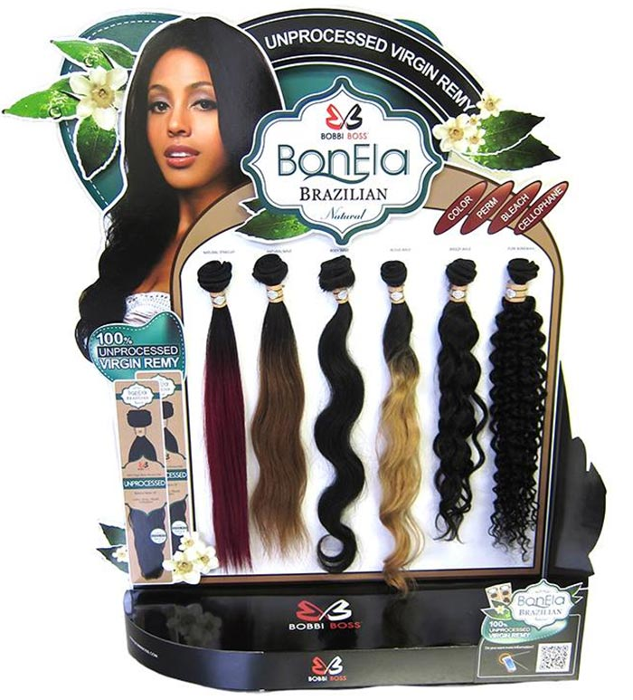 BobbiBoss Brazilian Natural Virgin Remi Hair Weaves Wigs & Weaves