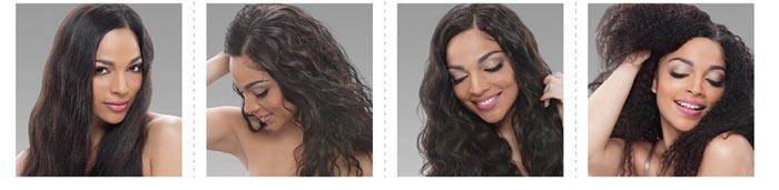 Janet Collection Unprocessed Brazilian Remy Human Hair Wigs & Weaves