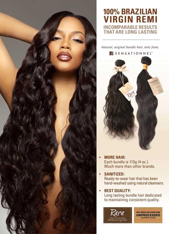 Unprocessed Brazilian Remi Hair Weaves