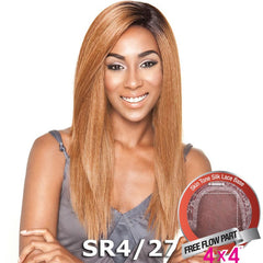 "Mane Concept Brown Sugar Human Hair Blend Silk Lace Wig - BS604 (4""X4"" Lace)"