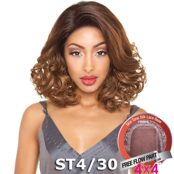 "ISIS Brown Sugar Human Hair Blend Silk Lace Wig - BS606 (4""X4"" Lace)"