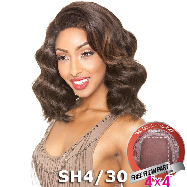 "Mane Concept Brown Sugar Human Hair Blend Silk Lace Wig - BS607 (4""X4"" Lace)"