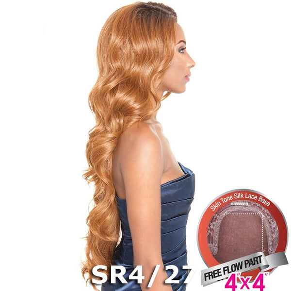 "Isis Brown Sugar Human Hair Blend Silk Lace Wig - BS610 (4""X4"" Lace)"