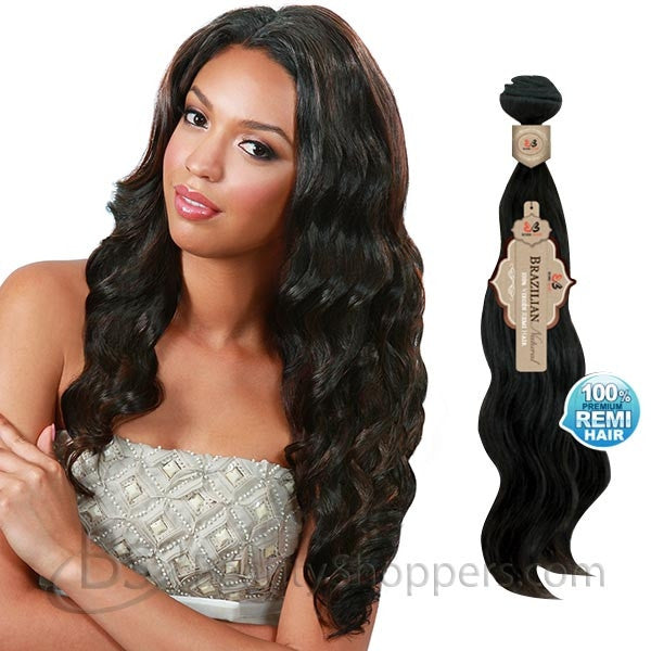BobbiBoss Unprocessed Brazilian Natural Remi Hair Weave - OCEAN WAVE (Bundle Hair)