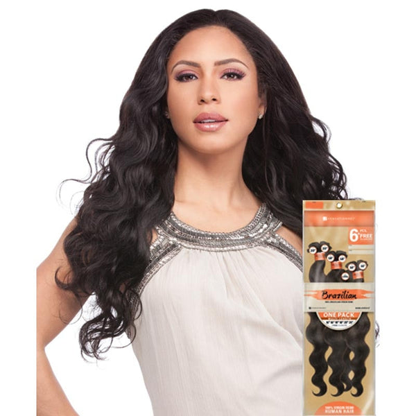 Bare & Natural Unprocessed Hair Weave ONE PACK - NATURAL BODY (6PCS+Closure)