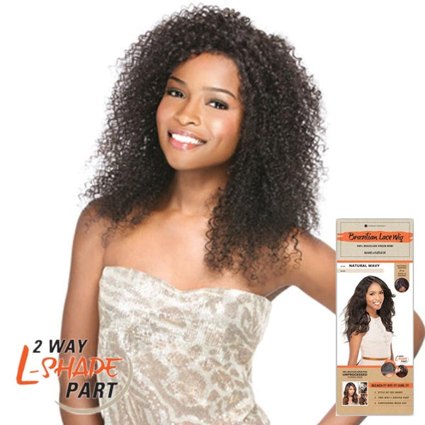 "Bare & Natural Unprocessed Hair 2 Way ""L""-Shape Part Lace Wig - BOHEMIAN"