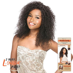 "Unprocessed Hair 2 Way ""L""-shape Part Lace Wig - BOHEMIAN"