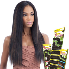 Q Human Hair Mastermix Weave - MALAYSIAN IRONED TEXTURE NATURAL STRAIGHT 7 BUNDLES
