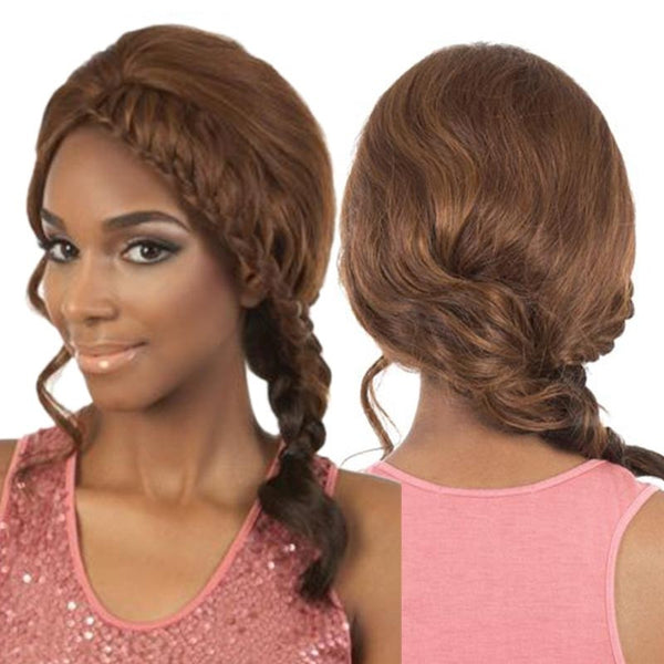 "BeShe Braid Hair Lace Front Wig - LW-BRIE (SIDE BRAID LONG STYLE 17"")"