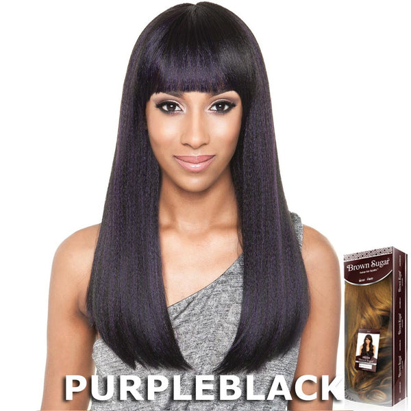 ISIS Brown Sugar Human Hair Blend Full Wig - BS111