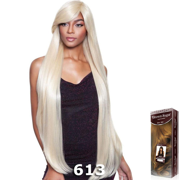 "Brown Sugar Human Hair Blend Full Wig - BS143 (40"")"