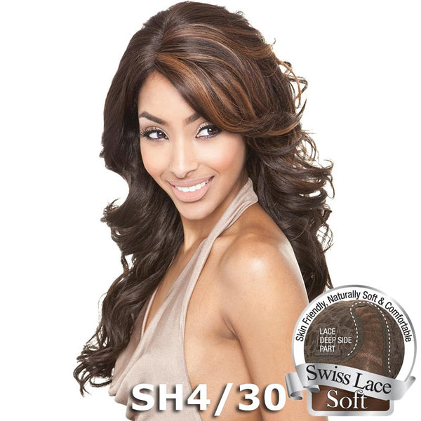 Isis Brown Sugar Human Hair Blend Soft Swiss Lace Wig - BS212