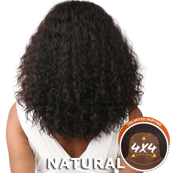 "Bare & Natural Unprocessed Hair 4""X4"" Swiss Lace Wig - DEEP CURLY"