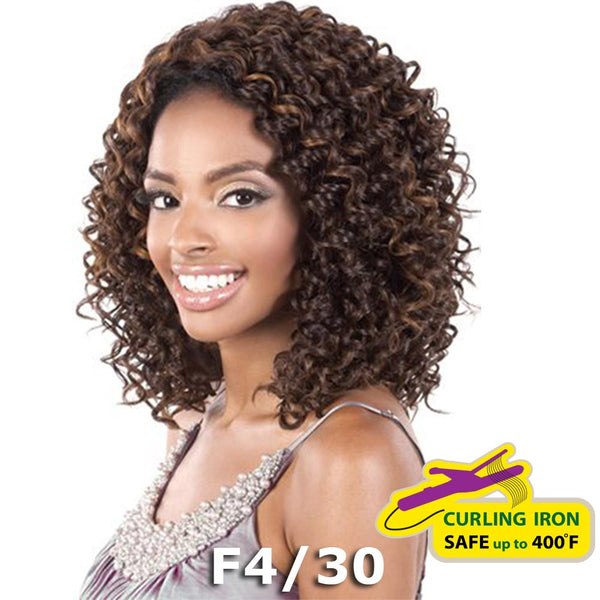 "BeShe 2"" Deep Lace Front Wig - LACE-45 (CURLY MED SHAG 15"")"