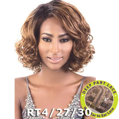 "BeShe 4"" Deep J-Part Lace Front Wig - LLDP-112 (11"")"