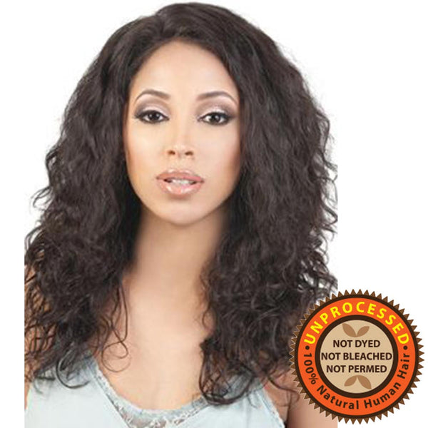 "BeShe Unprocessed Brazilian Remy Hair 2"" Deep Lace Wig - HBR-L.SAM 18"""