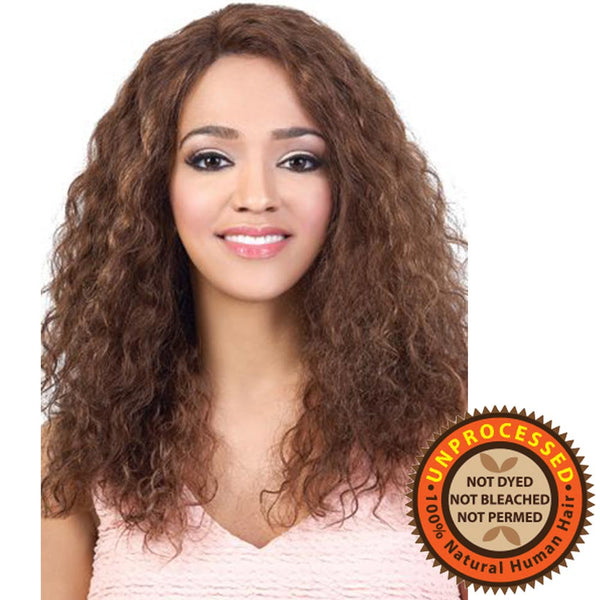 "BeShe Unprocessed Brazilian Hair Deep Part ""J""-Curl Lace Wig - HBR-LLDP8 18"""