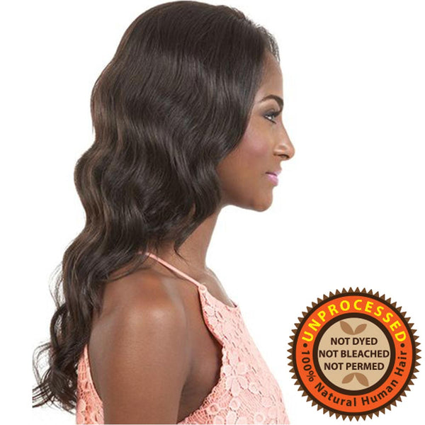BeShe Unprocessed Brazilian Remy Human Hair Swiss Lace Wig - HBR-LS.TIE 20""