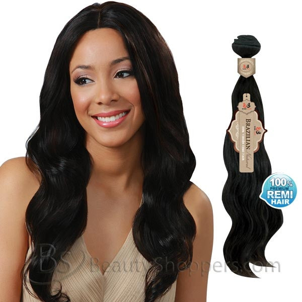 BobbiBoss Unprocessed Brazilian Natural Remi Hair Weave - NATURAL WAVE (Bundle Hair)