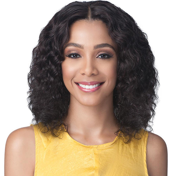 BobbiBoss Unprocessed Human Hair Whole/Full Lace Wig - NATURAL CURL 16""