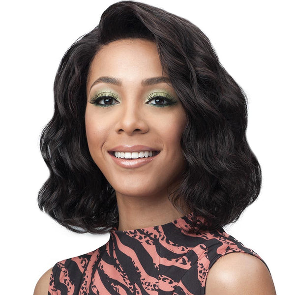 BobbiBoss Unprocessed Human Hair Whole/Full Lace Wig - OCEAN WAVE 12""