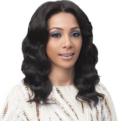 BobbiBoss Unprocessed Human Hair Whole/Full Lace Wig - OCEAN WAVE 16""