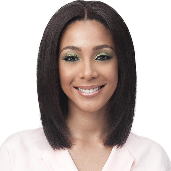 BobbiBoss Unprocessed Human Hair Whole/Full Lace Wig - STRAIGHT 16""
