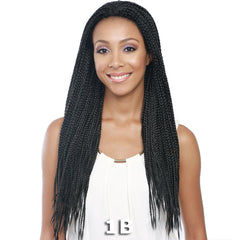 BobbiBoss Lace Front Wig - MLF128 BOX BRAID 30""