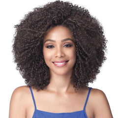 BobbiBoss Natural Voluminous Curl Hair Lace Front Wig - MLF407 Nina