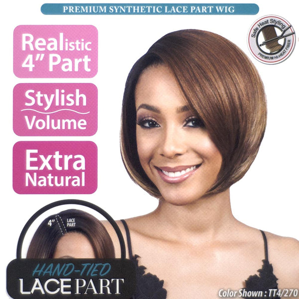 "BobbiBoss Synthetic Hair 4"" Lace Part Full Wig - MLP0005 JOLIE"