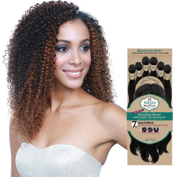 BobbiBoss BonEla Brazilian Natural Unprocessed Hair Weave - JERRY CURL 7PCS
