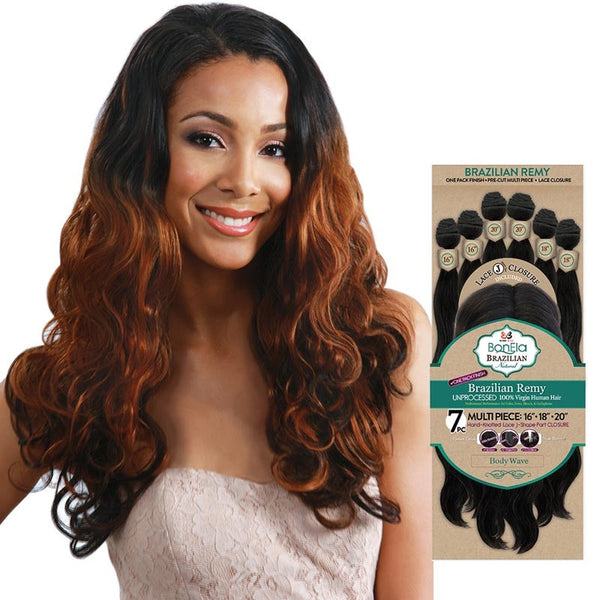BobbiBoss BonEla Brazilian Natural Unprocessed Hair Weave - BODY WAVE 7PCS