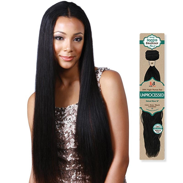 BobbiBoss BonEla Brazilian Natural Unprocessed Hair Weave - NATURAL STRAIGHT (Bundle Hair)