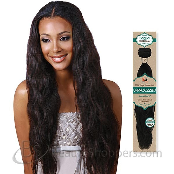 BobbiBoss BonEla Brazilian Natural Unprocessed Hair Weave - NATURAL WAVE (Bundle Hair)