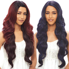 Janet Brazilian Scent Human Hair Blend Lace Front Wig - AILEEN