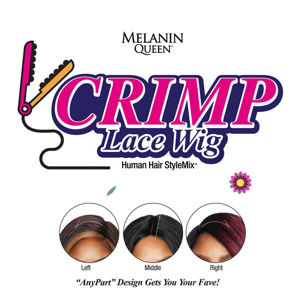 Melanin Queen Human Hair Blend AnyPart Lace Wig - MLCP203 TAYLOR CRIMP