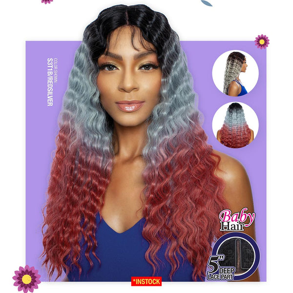 Melanin Queen Human Hair Blend AnyPart Lace Wig - MLCP201 TYRA CRIMP