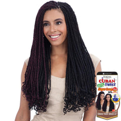 FreeTress Equal Synthetic Hair Braid - CUBAN TWIST 24""