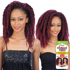 FreeTress Equal Hair Braidable Weaving - CUBAN TWIST BRAID WEAVE 12""