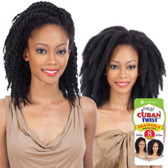 FreeTress Equal Hair Braidable Weaving - CUBAN TWIST BRAID WEAVE 8""