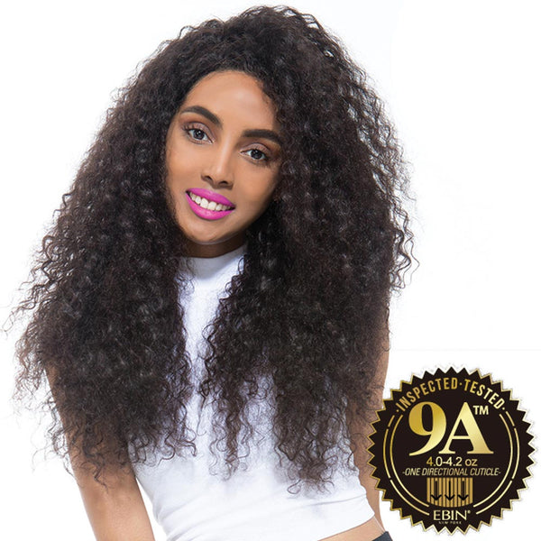 EBIN Celebrity Collection Wig Dress Unprocessed Hair Lace Front Wig - 9A BOHEMIAN CURL (Wet & Wavy)