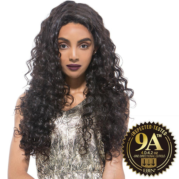 EBIN Celebrity Collection Wig Dress Unprocessed Hair Lace Front Wig - 9A DEEP WAVE