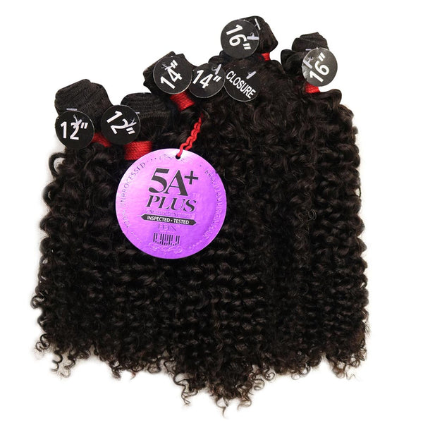 EBIN New York 100% Unprocessed Hair Weave - 5A+ BOHEMIAN CURL COMBO 6pcs